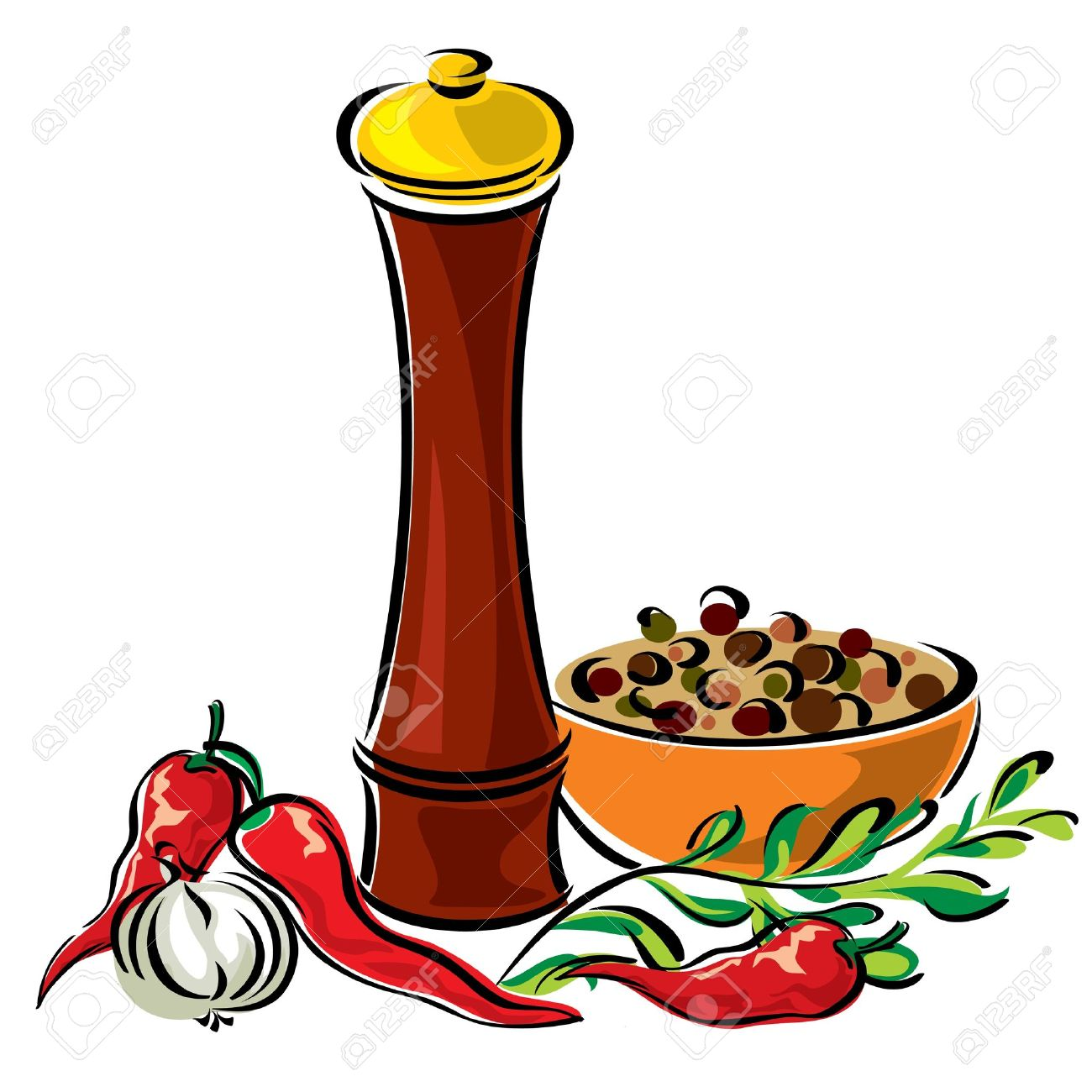 Cooking and Spices Clip art