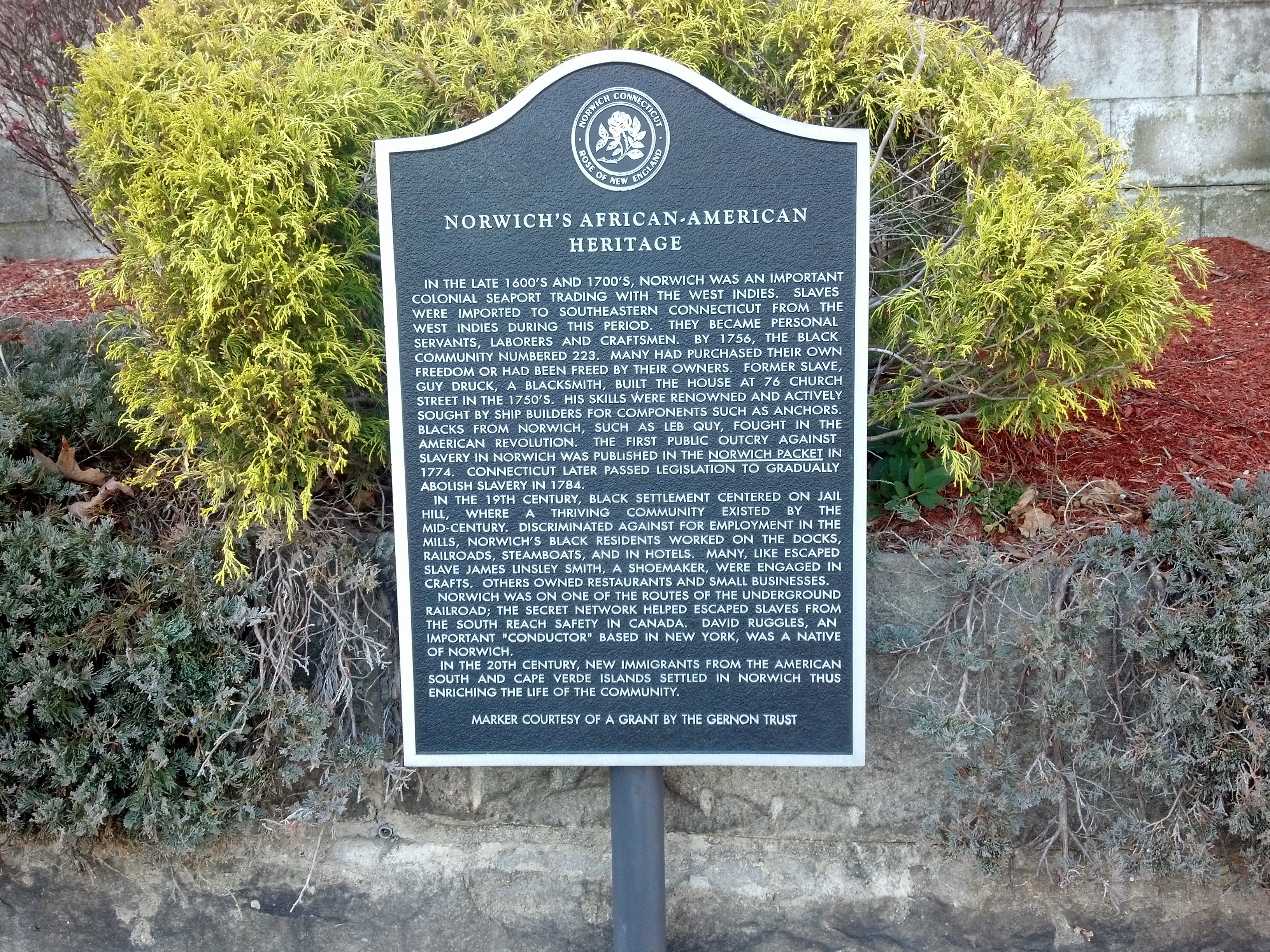 African-American Heritage Marker on Church Street