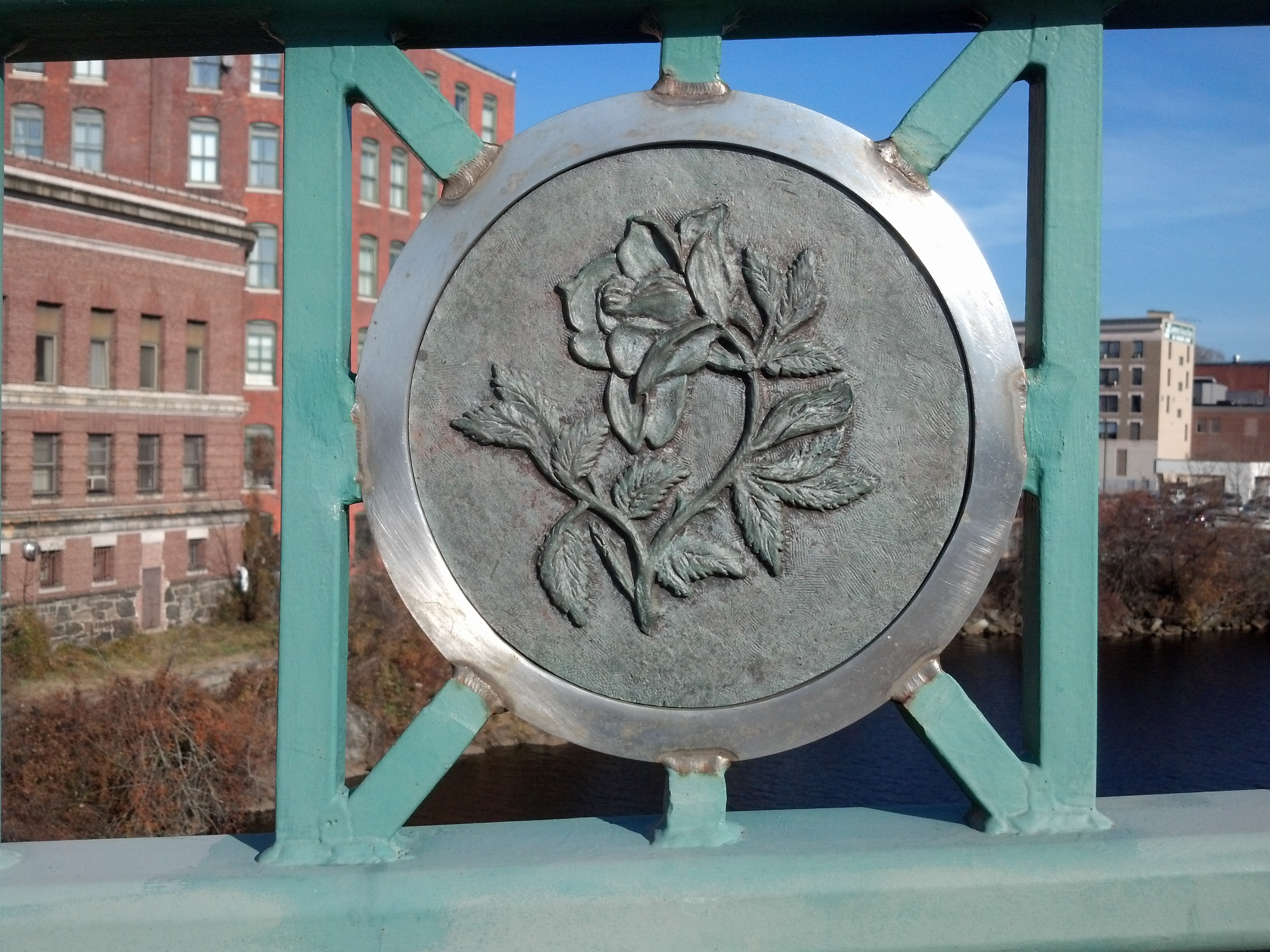 Rose Medallion on Laurel Hill Bridge